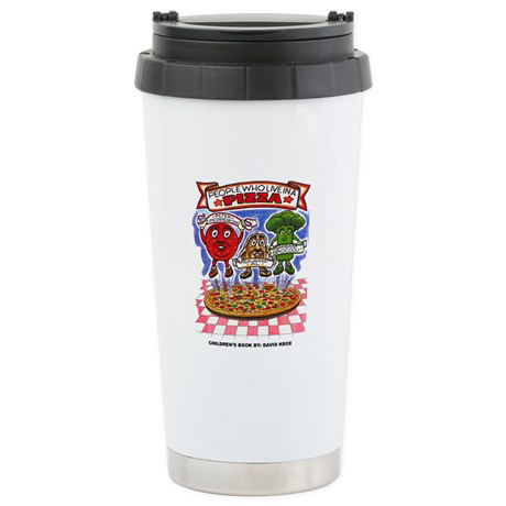 "Children's book ""People Who Live in a Pizza"" Drinking Mug"