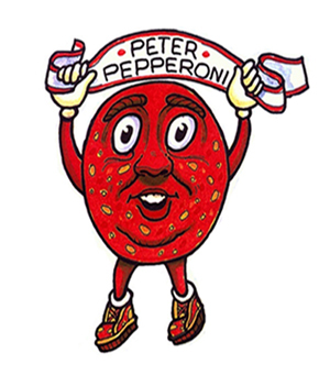 """People Who Live in a Pizza"" Children's Book Character Peter Pepperoni"