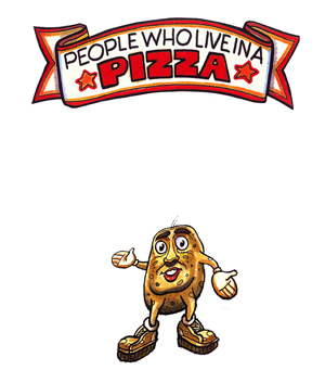 "Children's Book ""People Who Live in a Pizza"" Car Mug"
